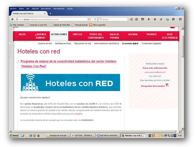 hoteles en red